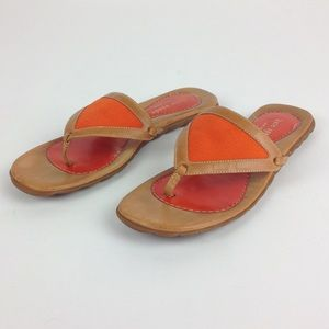 Kate Spade Thong Triangle Sandals Orange Sz 6